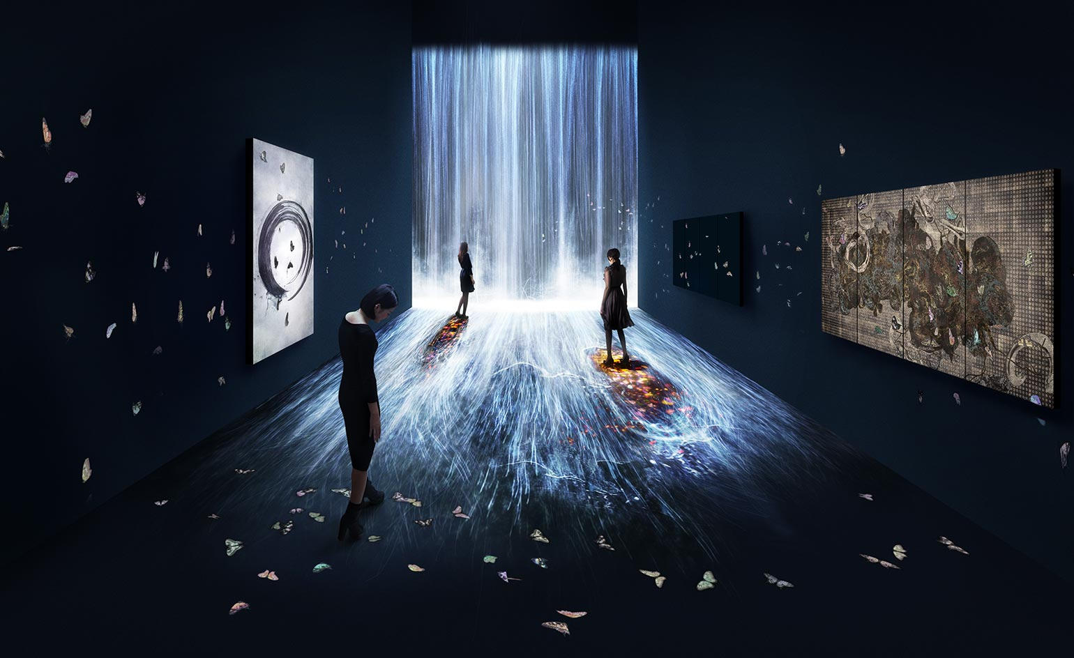 Pace Gallery Presents Teamlab S Interactive Light Works Wallpaper