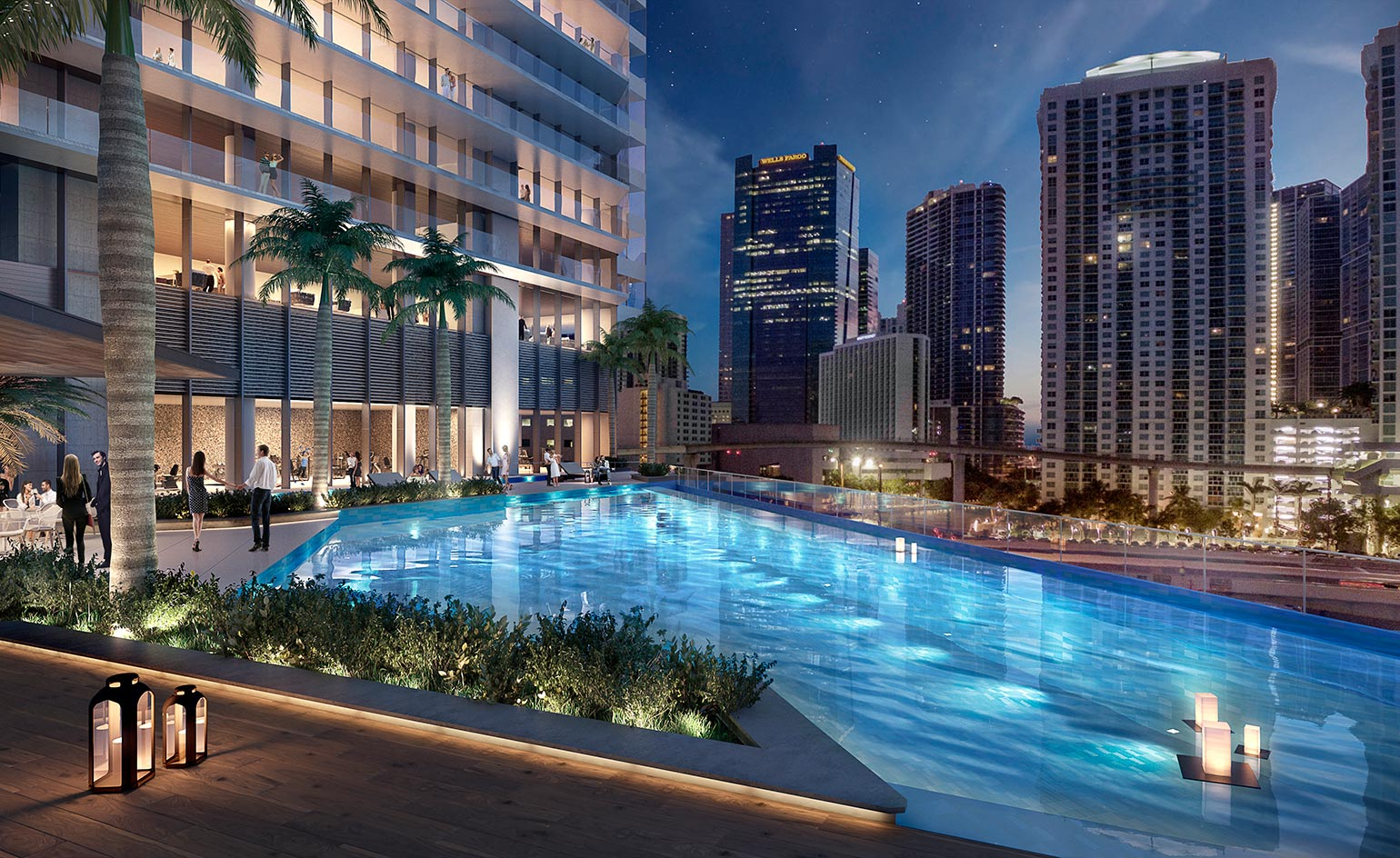 Rafael vi oly s one river point in downtown miami wallpaper for Riverpointe